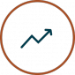 Increase Performance Icon - Arrow going up in circle