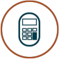 Reduce Maintenance Costs Icon - calculator in circle