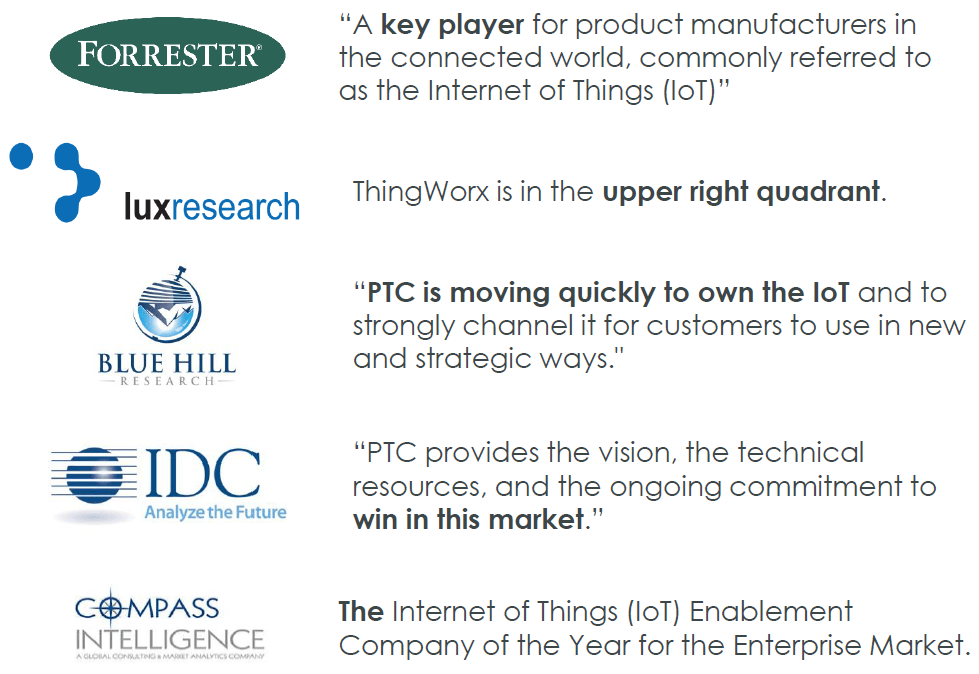 PTC - a key player in IOT